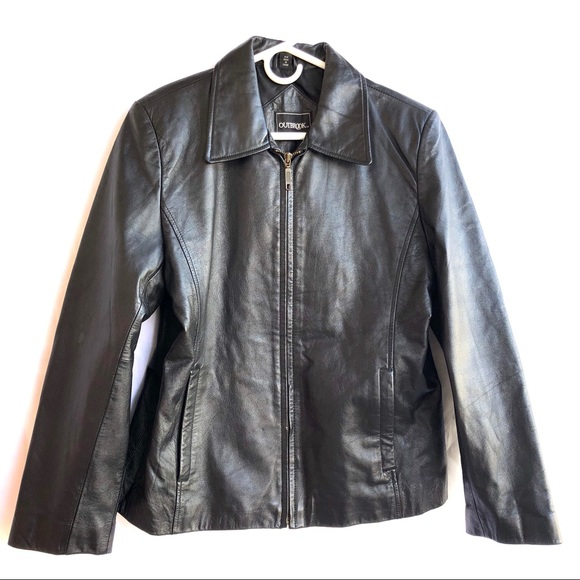 90439e158 Women's Outbrook Insulated Black Leather Jacket